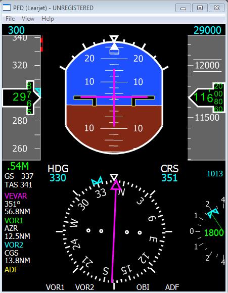 External Displays Learjet